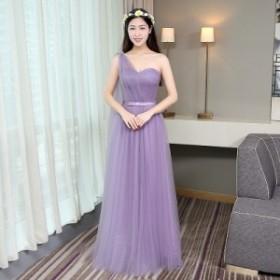 ブライズメイド ロングドレス 結婚式 お呼ばれドレス パーティードレス 大きいサイズ レディース マキシドレス ラベンダーカラー