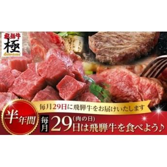 《自分へのご褒美にも》飛騨市推奨特産品飛騨牛 毎月29日(肉の日) 飛騨牛を食べよう! 半年バージョン[L0008]