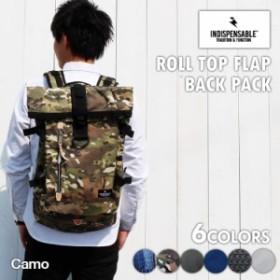 リュック デイパック ロールトップ フラップ バッグ Backpack ROLLS インディスペンサブル 通学 旅 誕生日 新学期
