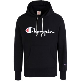 《期間限定セール中》CHAMPION REVERSE WEAVE メンズ スウェットシャツ ブラック S コットン 86% / ポリエステル 14% Hooded Sweatshirt