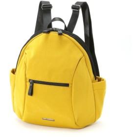 バッグ カバン 鞄 レディース リュック キラキラ素材がアクセントリュックサック カラー イエロー