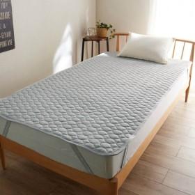 敷きパッド 寝具 綿100% オーガニックコットン 天竺ニット ベッド カバー 敷 パッド 洗える グレー シングル