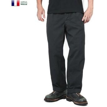 実物 新品 フランス軍 1950〜60年代 M-52 ヴィンテージ チノトラウザー BLACK染め メンズ チノパン デッドストック ミリタリー 軍パン ズボン ワイド 放出品