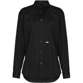 《期間限定セール開催中!》DSQUARED2 レディース シャツ ブラック 38 コットン 97% / ポリウレタン 3%