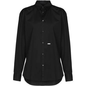 《セール開催中》DSQUARED2 レディース シャツ ブラック 38 コットン 97% / ポリウレタン 3%