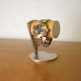 腕時計スタンド 丸パイプ扇形支柱腕時計デスクスタンド No.90325