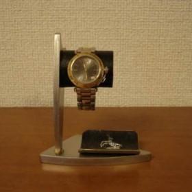 敬老の日に 腕時計スタンド デザイン時計収納スタンド ブラックトレイバージョン No.120213