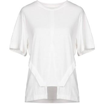《セール開催中》D.GNAK by KANG.D レディース T シャツ ホワイト 34 コットン 100%
