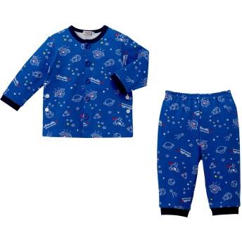 ミキハウス ミニ裏毛パイルパジャマ ブルー