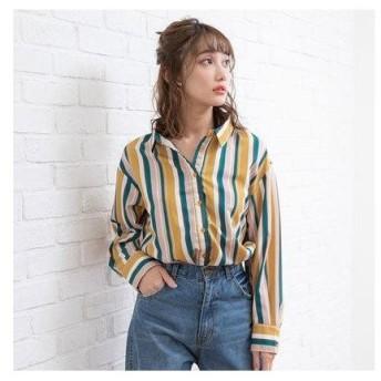 ユメテンボウ 夢展望 3WAYシャツ (イエローランダムストライプ)