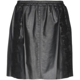 《期間限定 セール開催中》BLUGIRL BLUMARINE レディース ひざ丈スカート ブラック 44 羊類革 100%