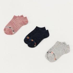 靴下 レディース 3足組スニーカー丈ソックス(ス二—カーから履き口が見えにくい)