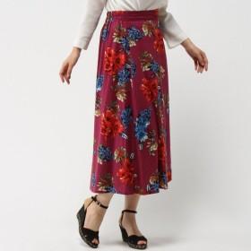 大人の女性のためのリゾート花柄スカート 「ピンク」