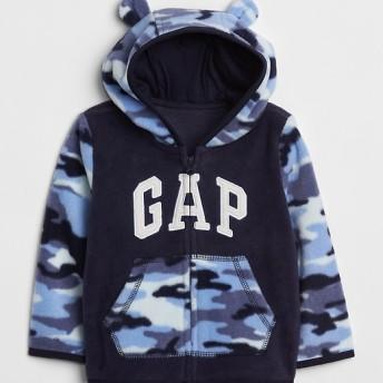 Gap アニマルデザイン フリースパーカー(ロゴ入り)