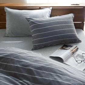 布団カバー シーツ 枕カバー ピローケース ベルメゾンデイズ オーガニックコットンを使った天竺ニットの枕カバー2枚セット チャコール