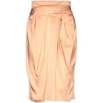 《9/20まで! 限定セール開催中》ELISABETTA FRANCHI レディース ひざ丈スカート あんず色 40 アセテート 71% / レーヨン 29%