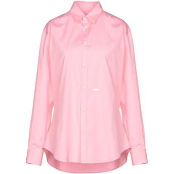 《セール開催中》DSQUARED2 レディース シャツ ピンク 40 コットン 97% / ポリウレタン 3%