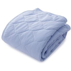 布団カバー シーツ 敷きパッド パッドシーツ 肌面綿100%の接触冷感ひんやり敷きパッド mofua ブルー