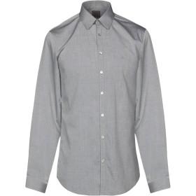 《期間限定セール開催中!》CALVIN KLEIN メンズ シャツ グレー 45 コットン 100%