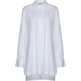 《9/20まで! 限定セール開催中》PAOLO CASALINI レディース シャツ ホワイト M 98% コットン 2% ポリウレタン