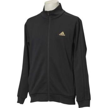 アディダス ADIDAS ESSENTIALS 3ストライプス ジャージジャケット [サイズ:M] [カラー:ブラック×ゴールドメット] #DJP56-BR1133