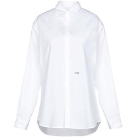 《期間限定セール開催中!》DSQUARED2 レディース シャツ ホワイト 38 コットン 97% / ポリウレタン 3%