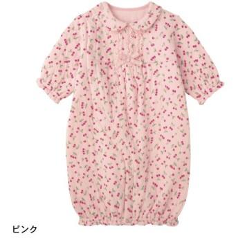 ベビー服 ツーウェイドレス GITA ジータ ニットキルトツーウェイオール ピンク