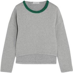 《送料無料》VIKA GAZINSKAYA レディース スウェットシャツ グレー 44 コットン 93% / ポリエステル 7%