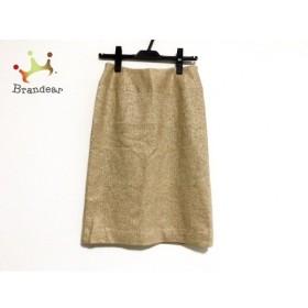 ニジュウサンク 23区 スカート サイズ2 M レディース 美品 ゴールド         スペシャル特価 20190201