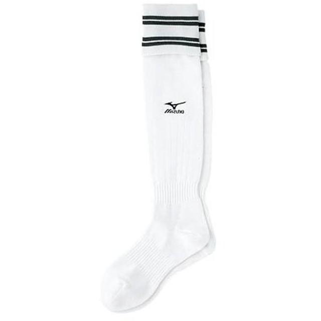 ミズノ(MIZUNO) サッカーストッキング 27-29cm ホワイト×ネイビー 62UL01084 サッカー フットサル ストッキング 靴下 ソックス