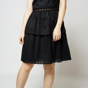 ミニドレスレースオープンワークドレス付きMITブラックウェディングドレス(R5052E)