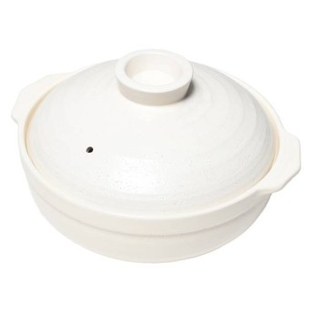 【トップバリュ ベストプライス】土鍋 白釉 10号 10号 土鍋・卓上鍋