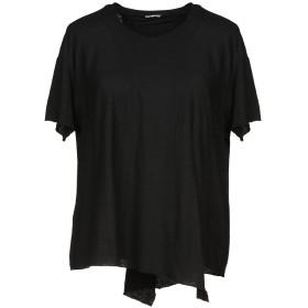 《期間限定セール開催中!》GOLD CASE レディース T シャツ ブラック 40 コットン 75% / 麻 25%