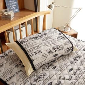 布団カバー シーツ 枕カバー ピローケース ディズニー さらっと素材の枕パッド ミッキーマウス カラー ホワイト