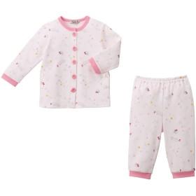 ミキハウス ミニ裏毛パイルパジャマ ピンク
