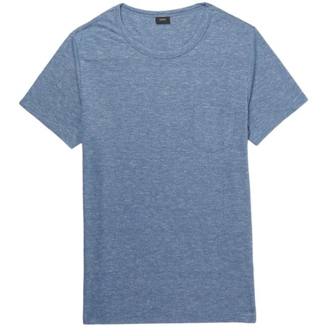《期間限定 セール開催中》ONIA メンズ T シャツ ブルーグレー S ポリエステル 53% / レーヨン 47%