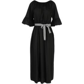 《送料無料》NO-N レディース 7分丈ワンピース・ドレス ブラック XS コットン 79% / ナイロン 18% / ポリウレタン 3%
