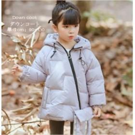 ダウンコート 子供 女の子  フード付き  キッズ   アウター 中綿 ロングコート 3色 アウター ジャケット 冬