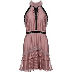 《期間限定 セール開催中》JUST CAVALLI レディース ミニワンピース&ドレス ドーブグレー 40 100% レーヨン ポリエステル 真鍮/ブラス