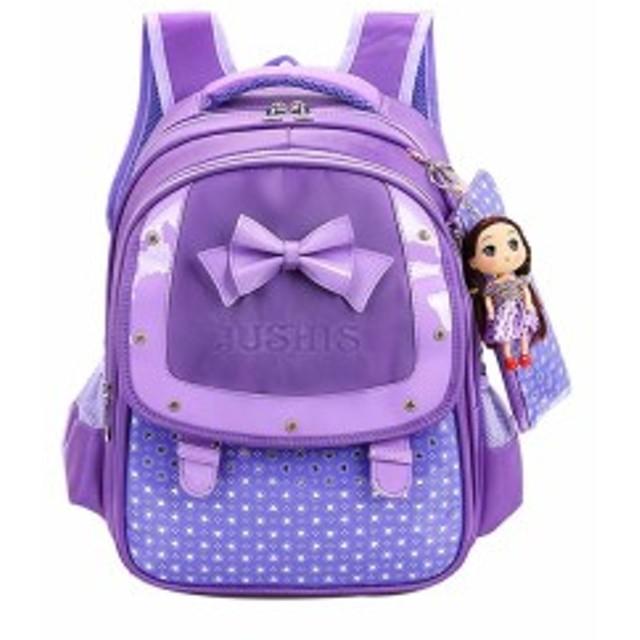 f8301705f164f 子供リュックサック 通学 遠足 お姫様 軽量大容量 かわいい人形おもちゃ付き ペンシルバッグ