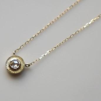 K10 Rosecut diamond necklace★ローズカット★ダイヤモンド★ネックレス★華奢★