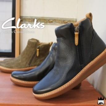 Clarks クラークス 本革 アンバーリーロッシ ショートブーツ