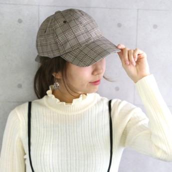 キャップ - CITRINE Chakra バックリボンCAP◆レディース ファッション 秋冬 キャップ 帽子 リボン 花柄 グレンチェック