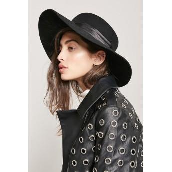 ハット - FOREVER 21 【WOMEN】 【フロッピーウールハット】 ハット 帽子 黒 ブラック