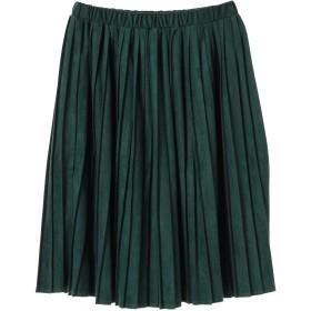 【6,000円(税込)以上のお買物で全国送料無料。】<13・17・21号>フェイクスウェードプリーツスカート