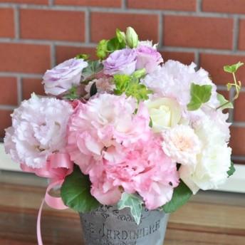 【生花】おしゃれなブリキのフラワーアレンジメント