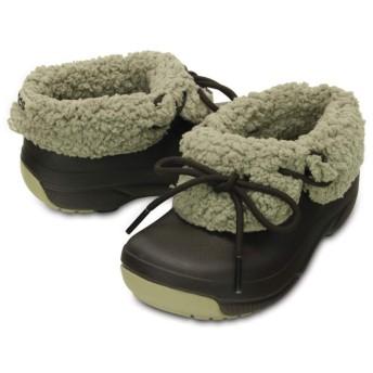 【クロックス公式】 ブリッツェン ラックス コンバーチブル クロッグ キッズ Kids' Blitzen Luxe Convertible Clog ユニセックス、キッズ、子供用、男の子、女の子、男女兼用 ブラウン/茶 14cm,15.5cm,17.5cm,18.5cm,19.5cm,20cm shoe 靴 シューズ