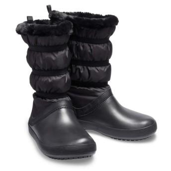 【クロックス公式】 クロックバンド ウィンター ブーツ ウィメン Women's Crocband Winter Boot ウィメンズ、レディース、女性用 ブラック/黒 22cm,23cm,24cm boot ブーツ