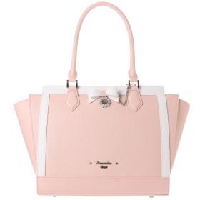 サマンサベガ リボンパスケース付きバッグパステル大 ピンク