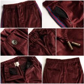 パンツ・ズボン全般 - ZIP CLOTHING STORE イージーパンツ メンズ ロングパンツ ベロア サイドライン スポーティ リラックスパンツ 無地 セットアップも可 ZIP ジップ秋秋物 秋服【161920】